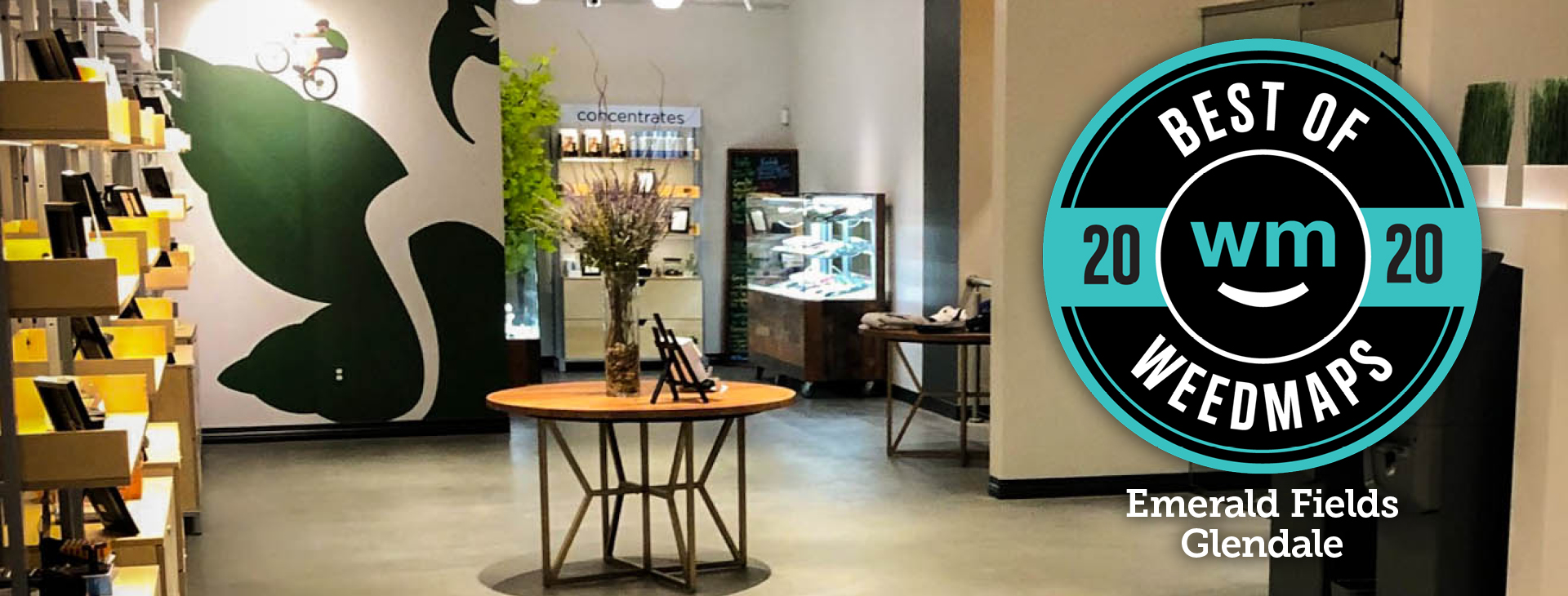 Emerald Fields Glendale Recreational Dispensary won the coveted Best of Weedmaps Award for 2020